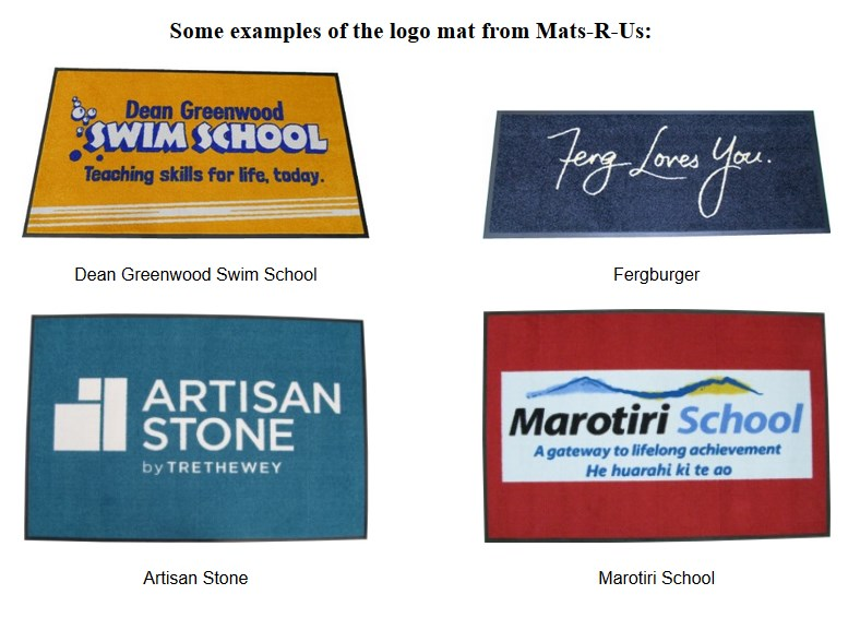 *Design your own 1.15 x 1.75m Logo mat Mat